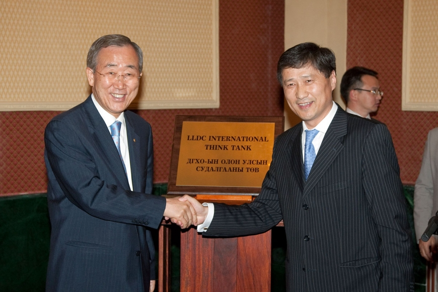 UN secretary-general, foreign minister Mongolia