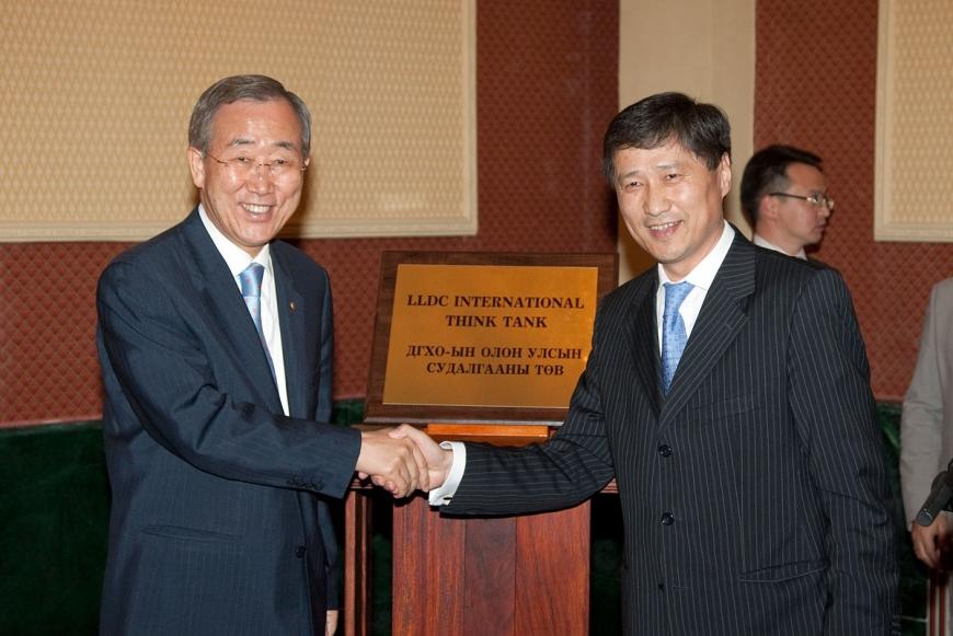 UN secretary-general, foreign minister Mongolia