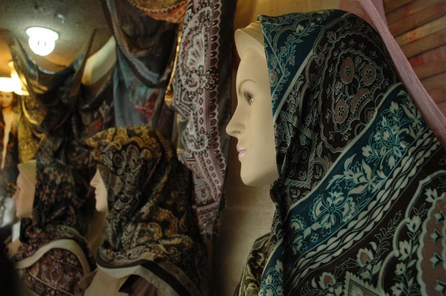 Traditional silk hijab