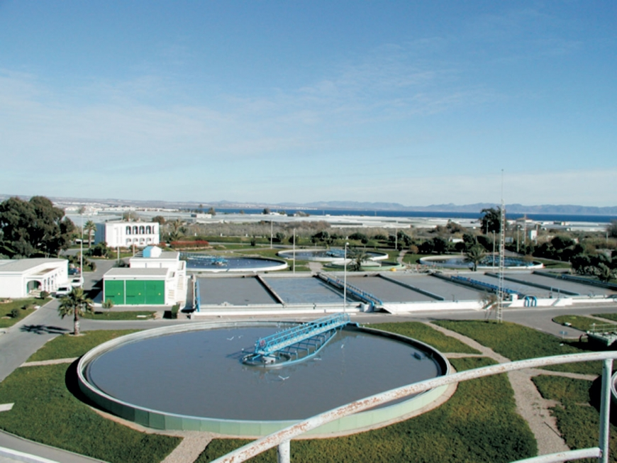 Waste water plant at Chiclana Spain