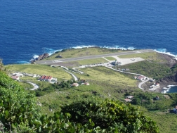 Saba airport before repairs took place. Photo by INS