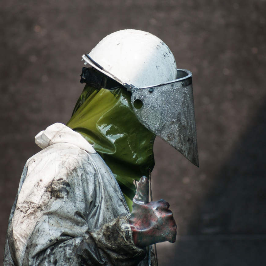High Pressure Cleaning with Personal Protective Equipment